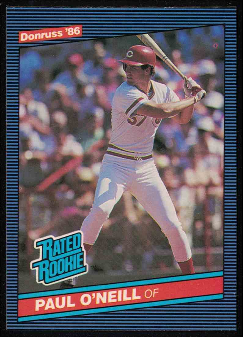 1986 Donruss Paul O'Neill Nm-Mt #37 card front image