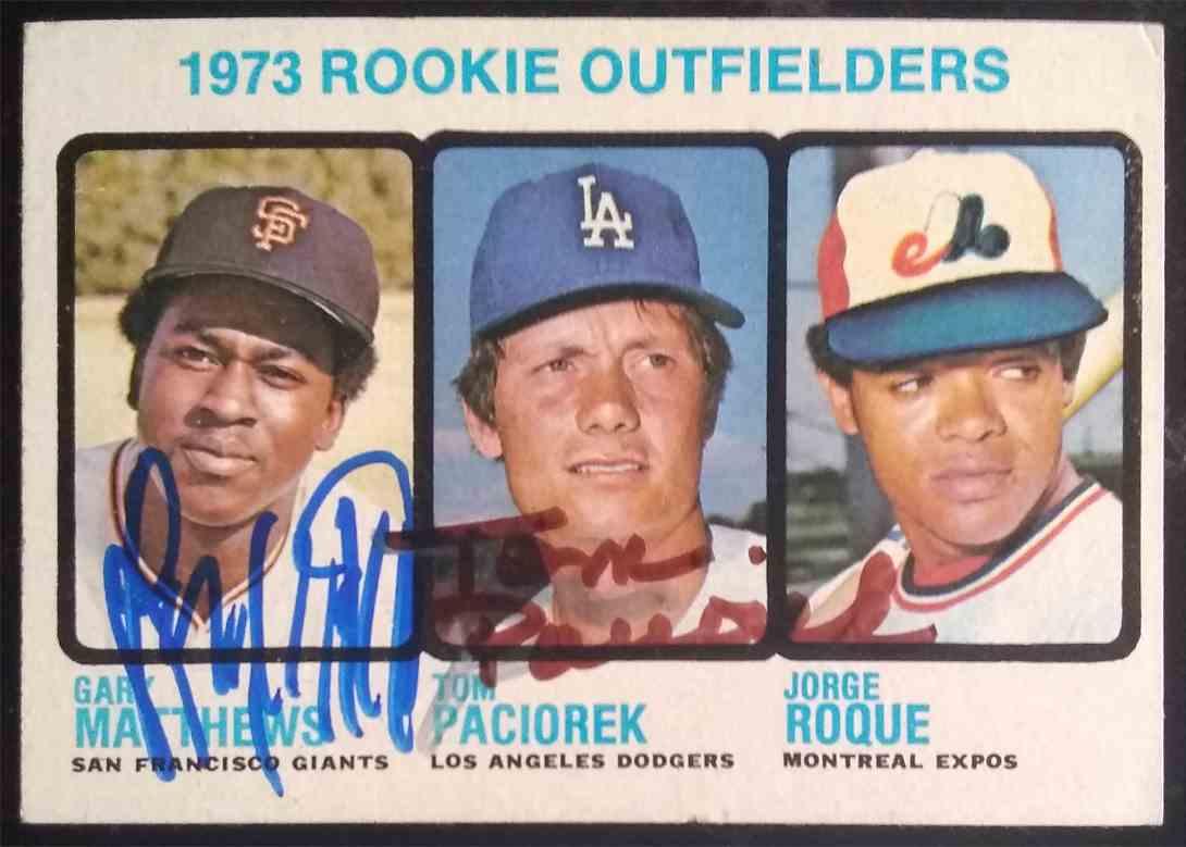 1973 Topps Gary Matthews Tom Paciorek #606 card front image