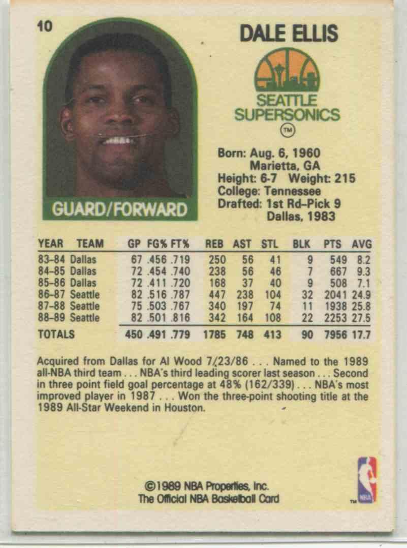 1989 90 NBA Hoops Dale Ellis 10 on Kronozio