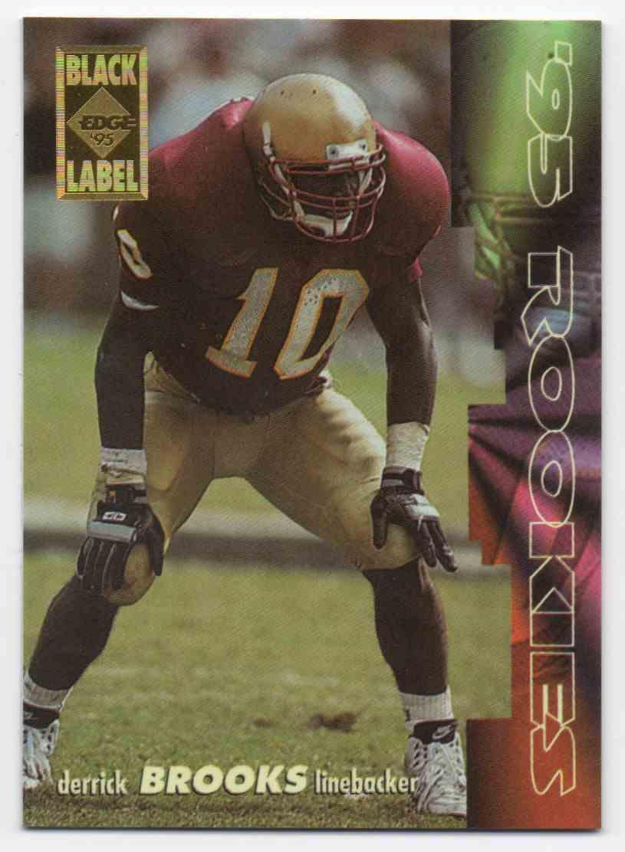 1995 Collectors Edge Black Label Rookies Derrick Brooks #14 card front image