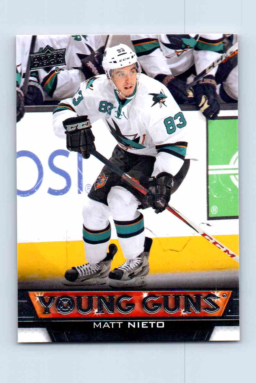 2013-14 Upper Deck Young Guns Matt Nieto #247 card front image