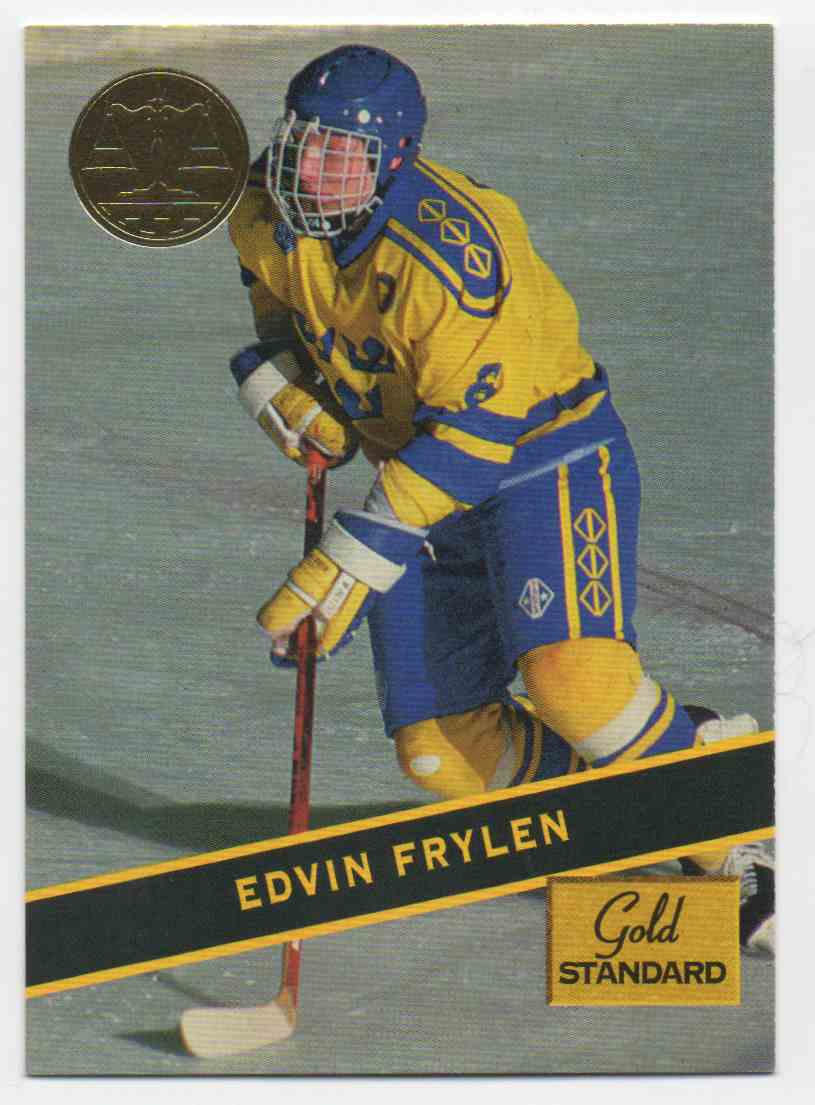 1994-95 Signature Rookies Gold Standard Edvin Frylen #85 card front image
