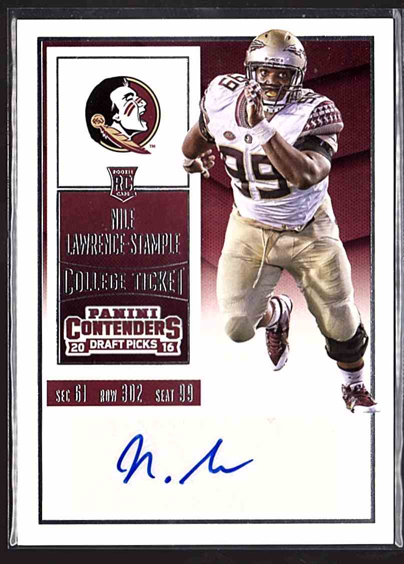 2016 Panini Contenders Draft Picks Nile Lawrence-Stample #280 card front image