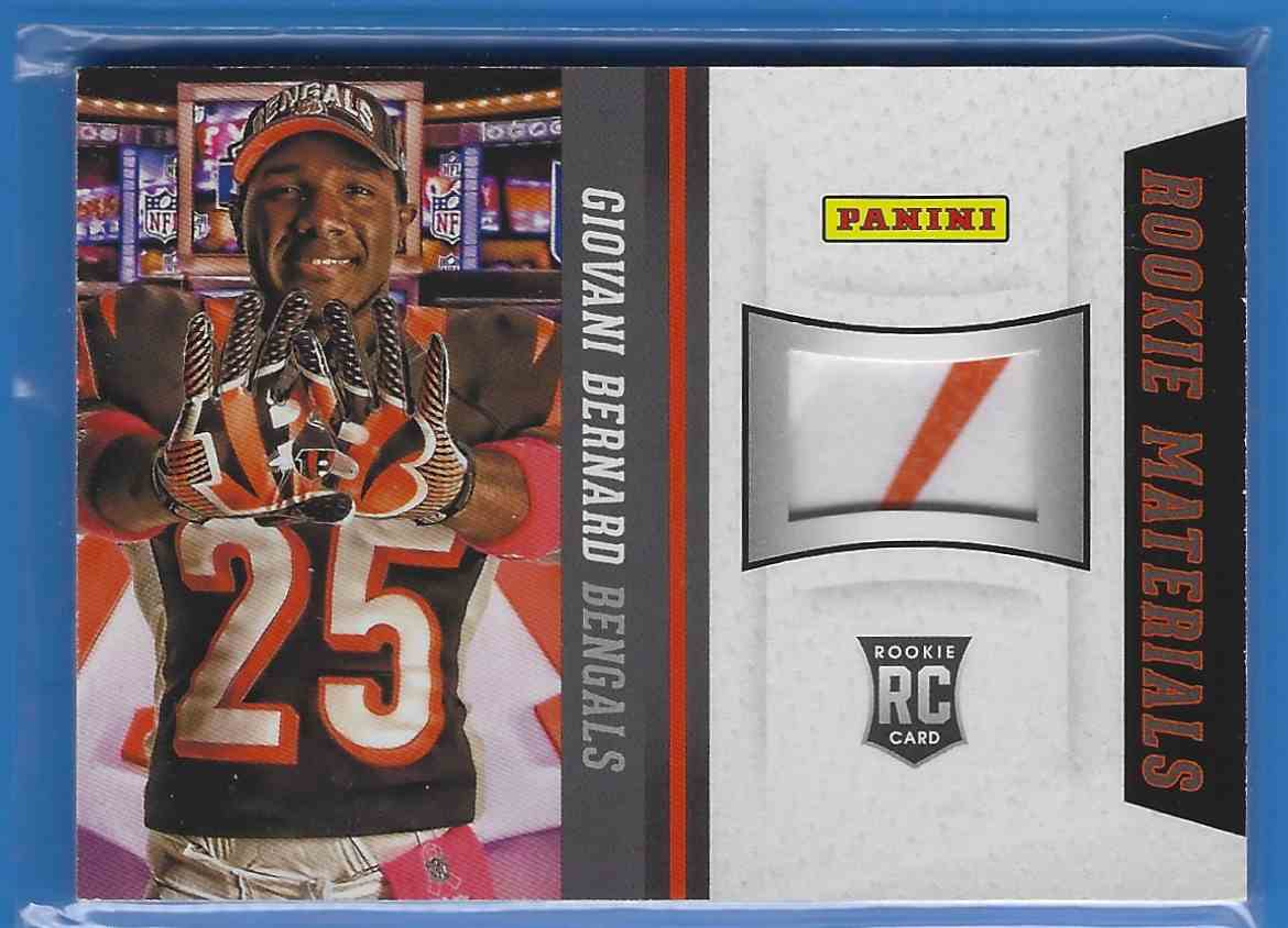 2013 Panini National Convention Rookie Materials Glove Giovani Bernard #11 card front image