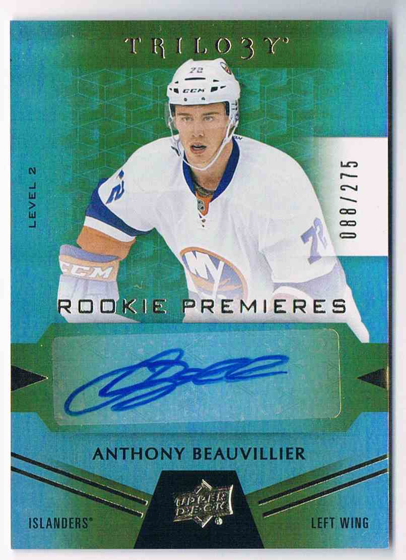 2016-17 Upper Deck Trilogy Anthony Beauvillier #98 card front image