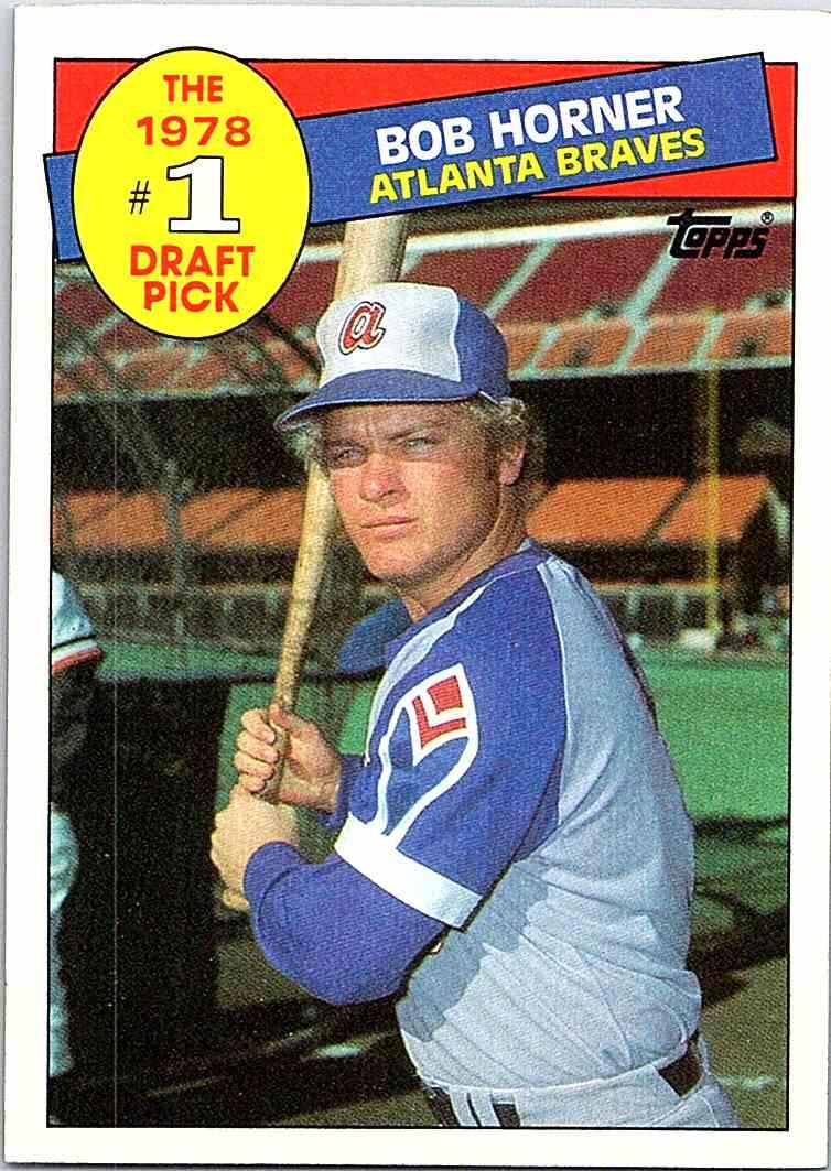 1985 Topps Bob Horner 276 On Kronozio