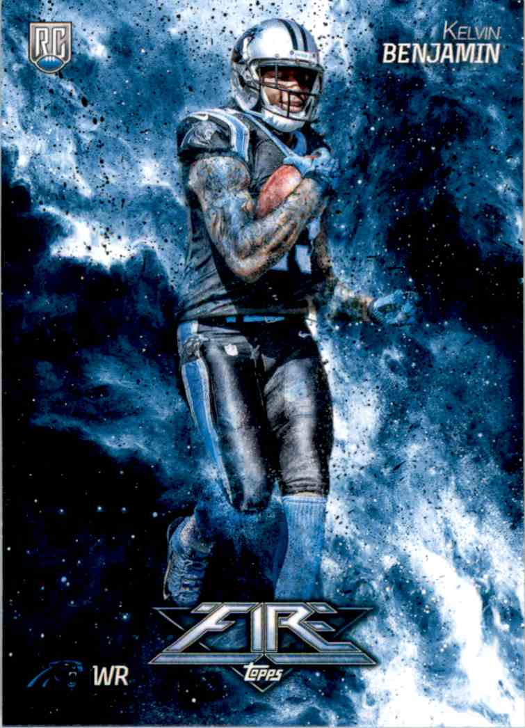 2014 Topps Fire Kelvin Benjamin RC #148 card front image