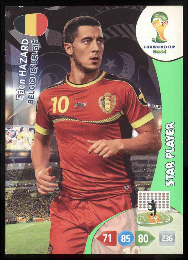 new product f2b86 73339 2014 Panini Adrenalyn XL Fifa World Cup Brazil Eden Hazard ...