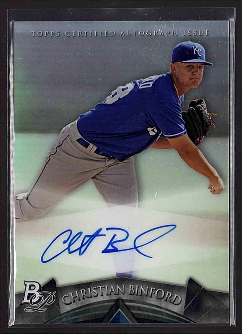 2014 Bowman Platinum Prospect Autographs Christian Binford #AP-CB card front image