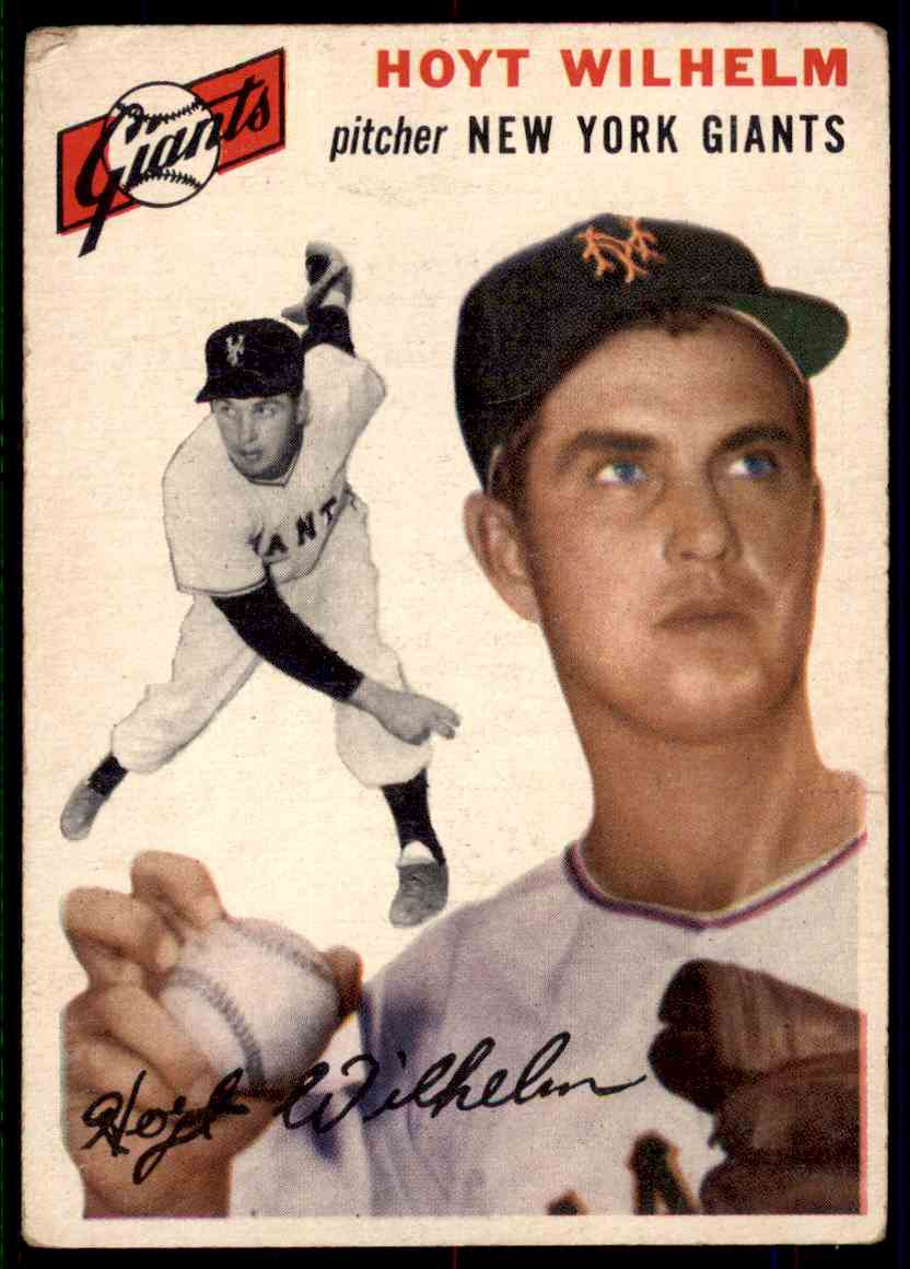 1954 Topps Hoyt Wilhelm #36 card front image