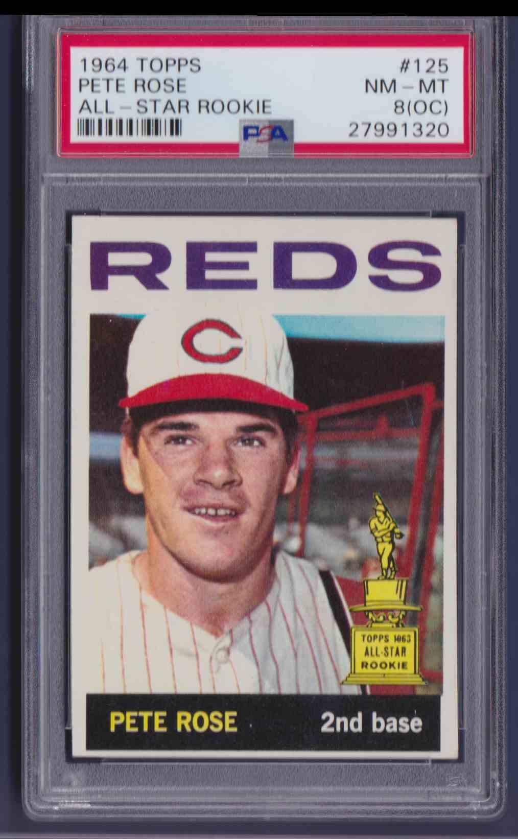 1964 Topps Pete Rose All Star Rookie 125 On Kronozio