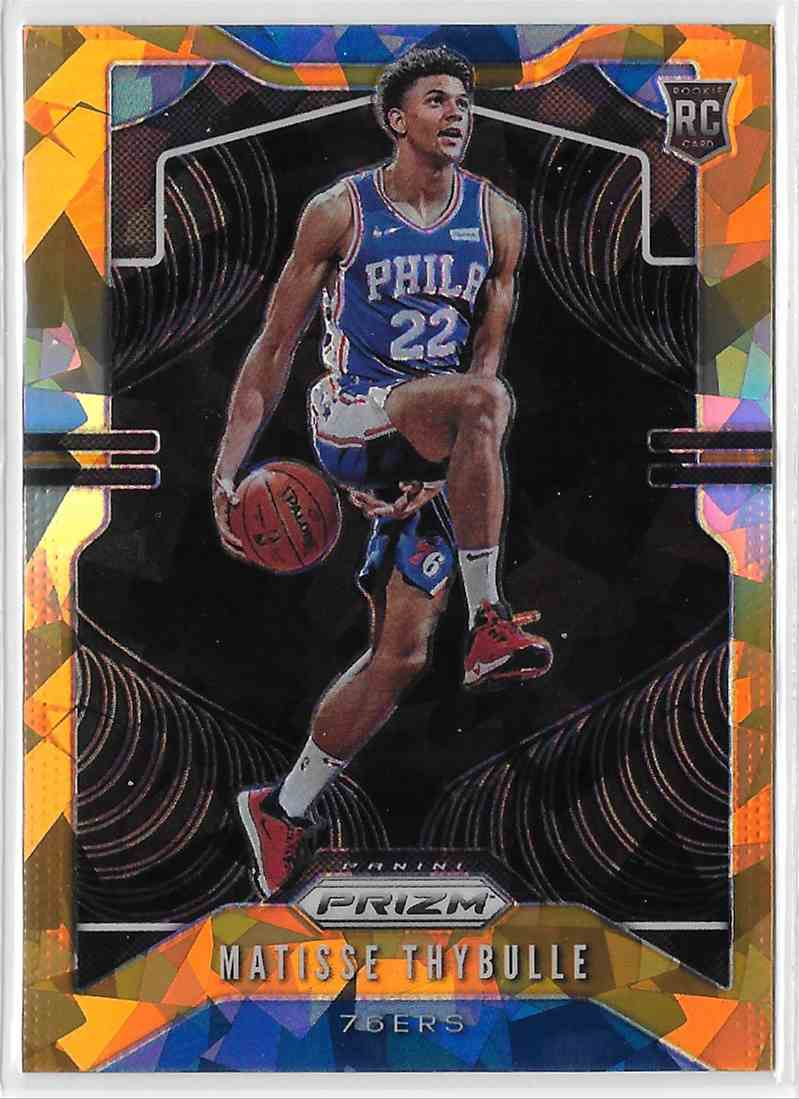 2019-20 Panini Prizm Orange Cracked Ice Prizm Matisse Thybulle #290 card front image