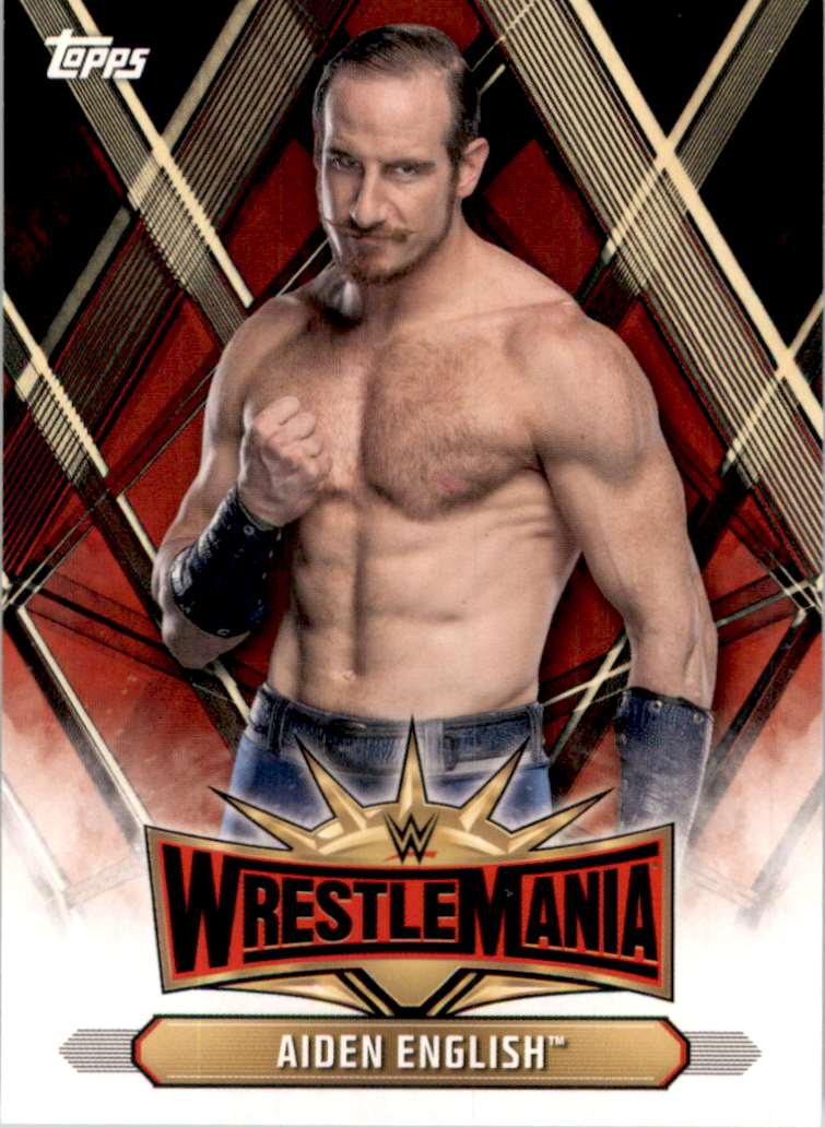 2019 Topps Wwe Road To WrestleMania WrestleMania 35 Roster Aiden English #WM26 card front image