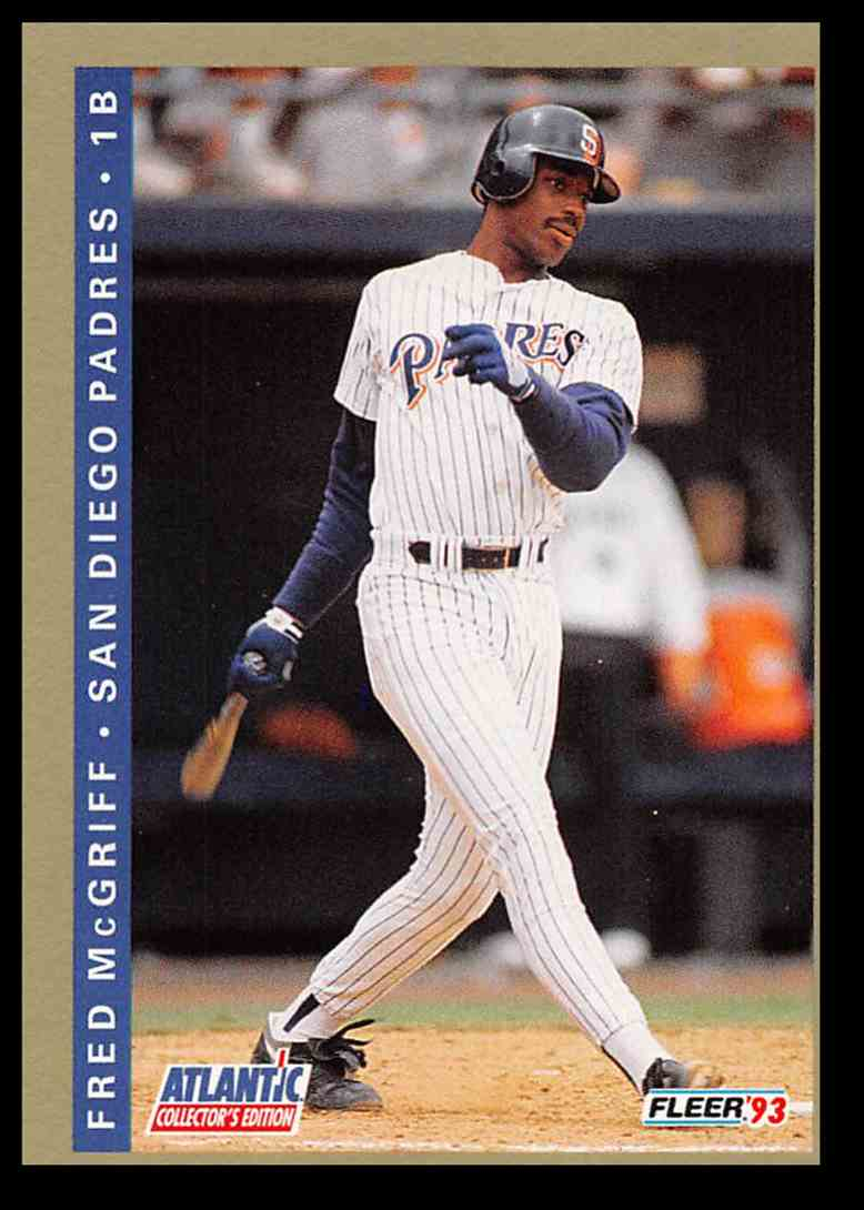1993 Fleer Atlantic Fred Mcgriff 15 On Kronozio