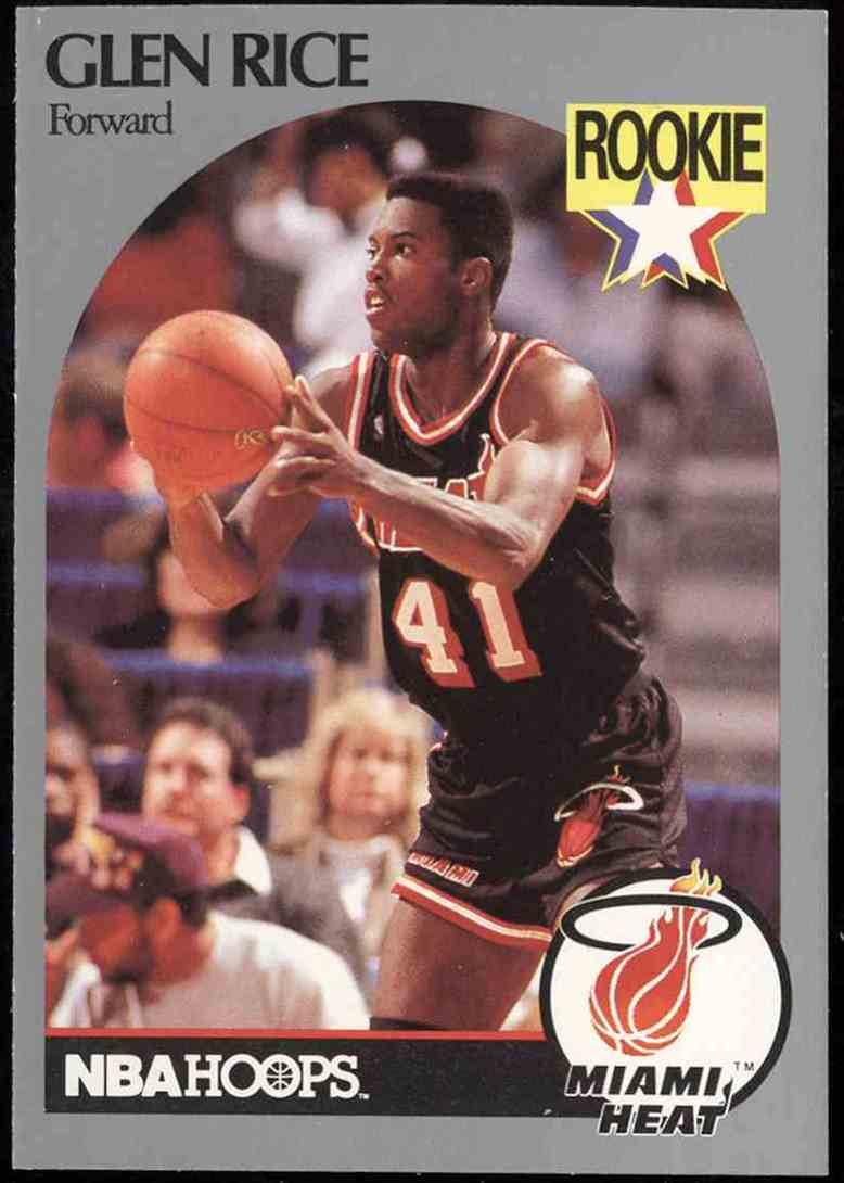 1990-91 NBA Hoops Glen Rice #168 card front image