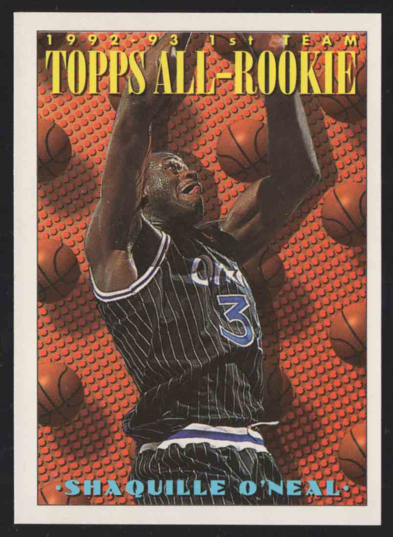 1993-94 Topps Shaquille O'Neal Art #152 card front image