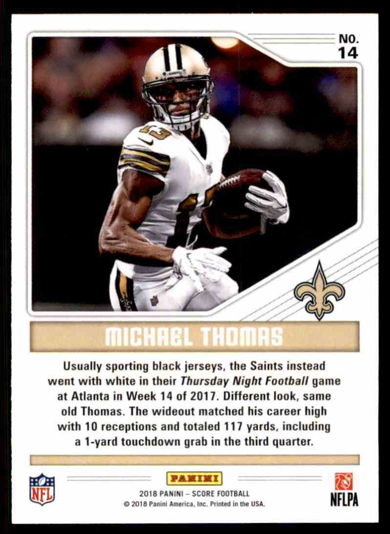 new styles 8294f 39d50 2018 Score Color Rush Michael Thomas #14 on Kronozio