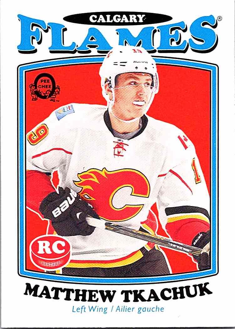 2016-17 O-Pee-Chee Hockey #681 Matthew Tkachuk RC Calgary Flames