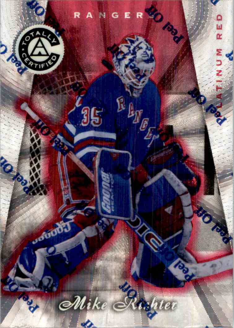 1997-98 Pinnacle Totally Certified Platinum Red Mike Richter #13 card front image