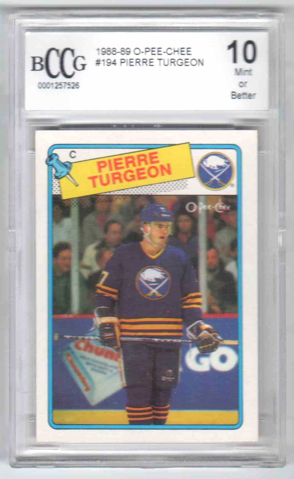 1988-89 O-Pee-Chee Pierre Turgeon #194 card front image