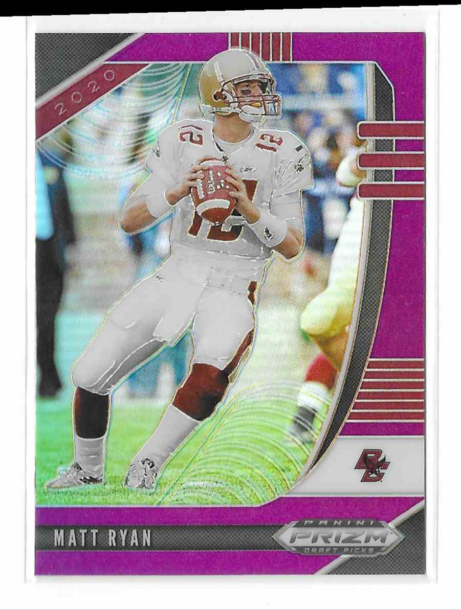 2020 Panini Prizm Draft Picks Purple Matt Ryan #71 card front image