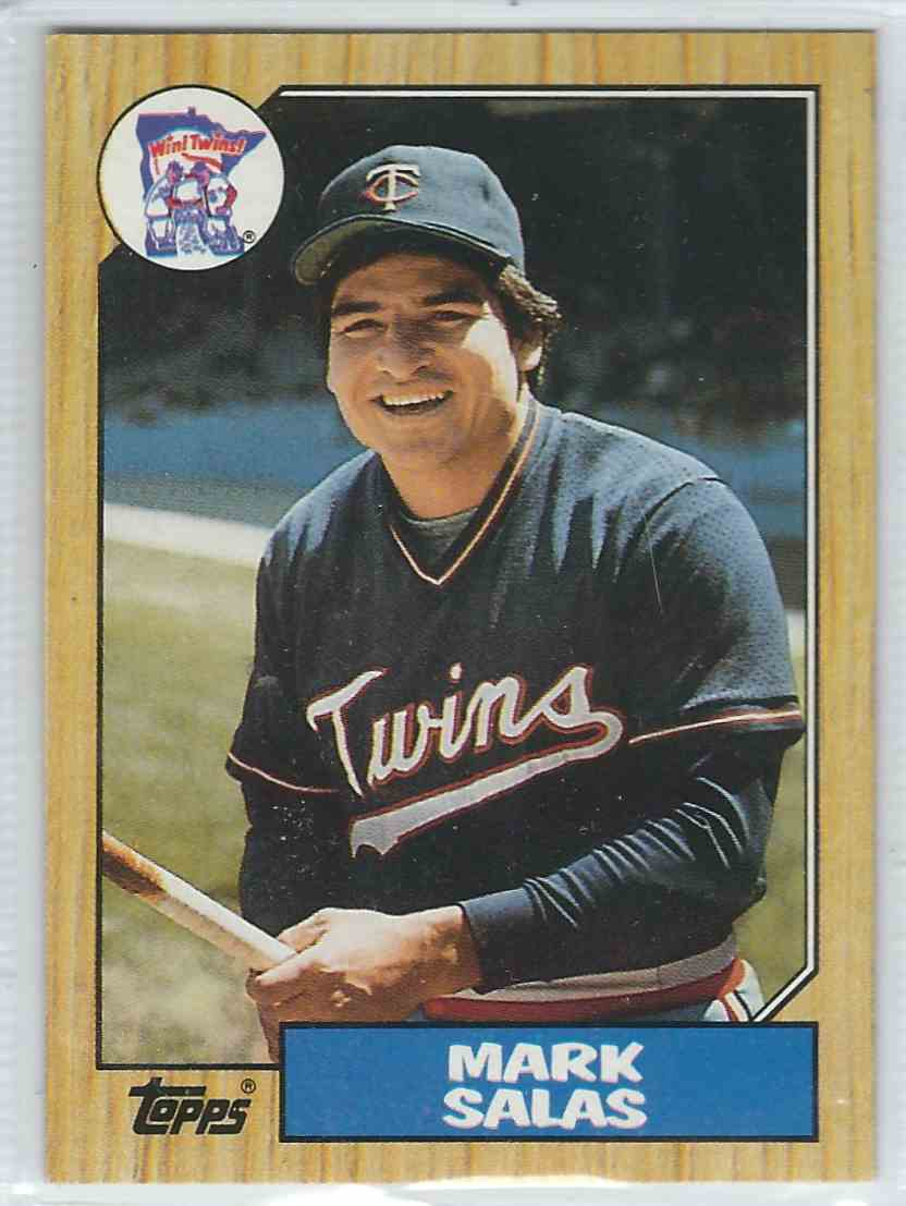 1987 Topps Mark Salas #87 card front image