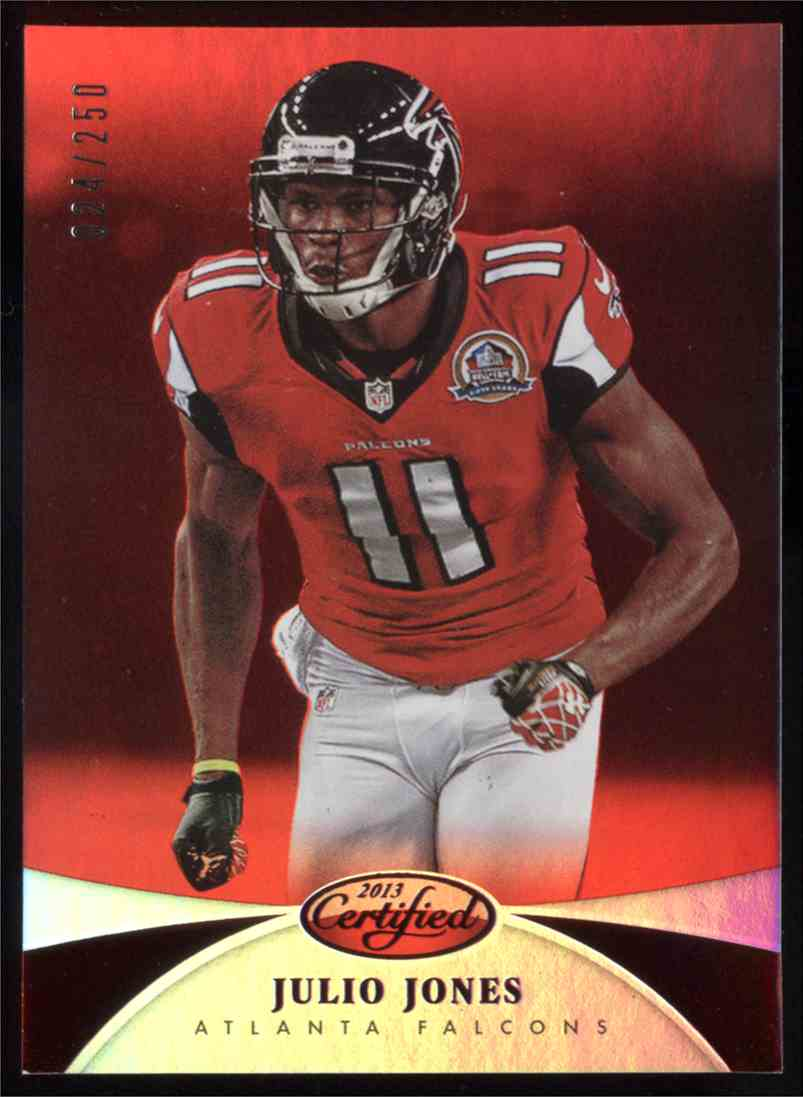 2013 Panini Certified Mirror Red Julio Jones #93 card front image