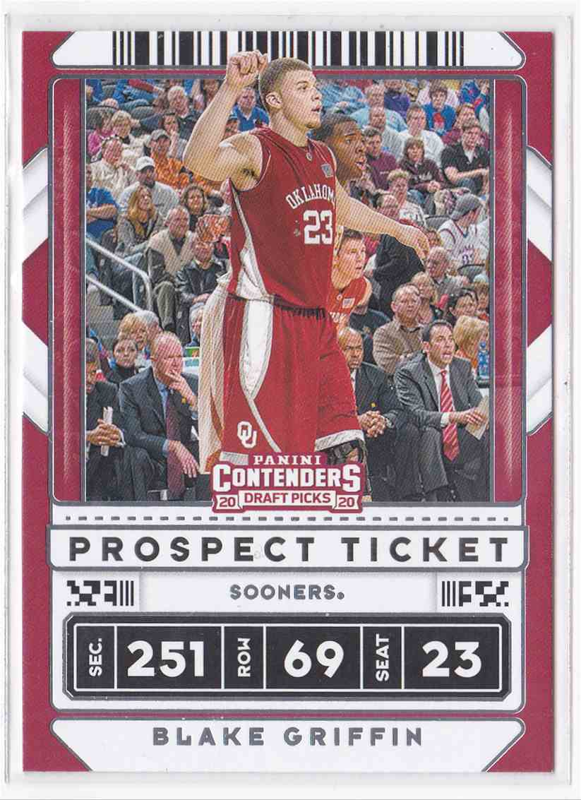 2020-21 Panini Contenders Draft Picks Prospect Ticket Blake Griffin #28 card front image