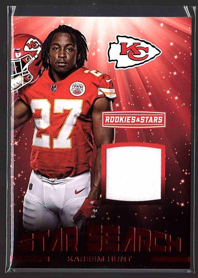 2017 Rookies And Stars Star Search Jerseys Kareem Hunt #19 card front image