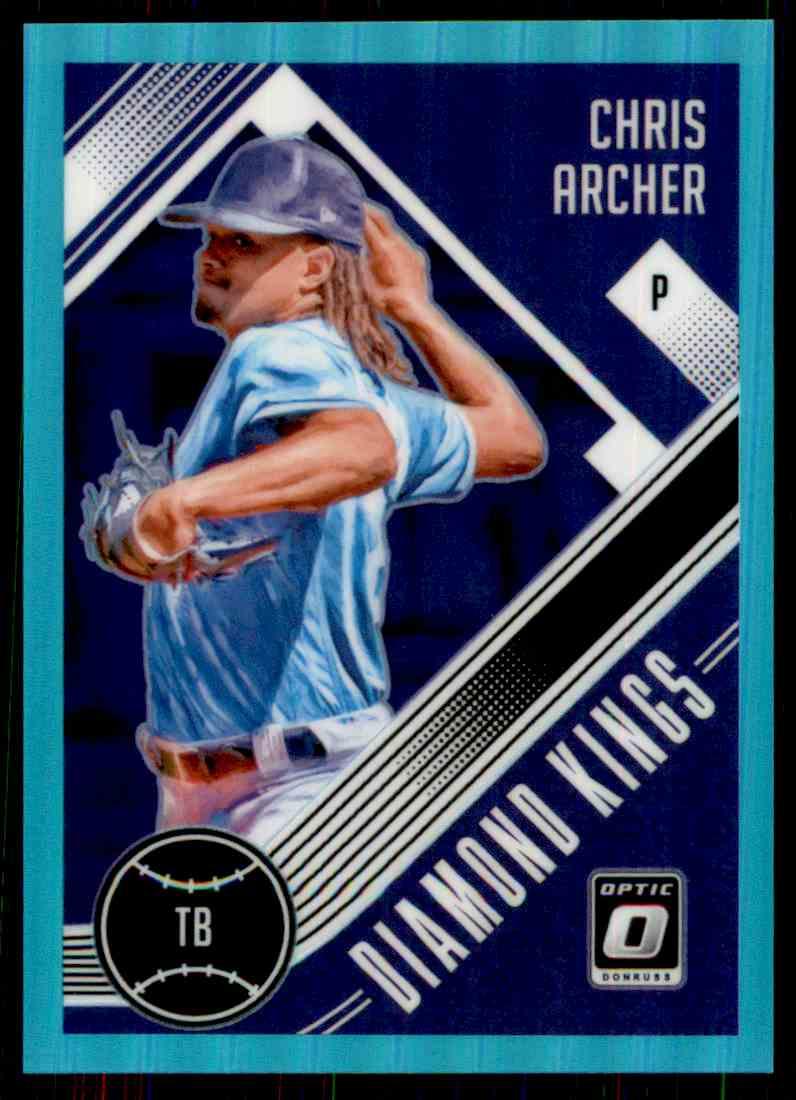 2018 Donruss Optic Aqua Prizm Diamond Kings Chris Archer #3 card front image