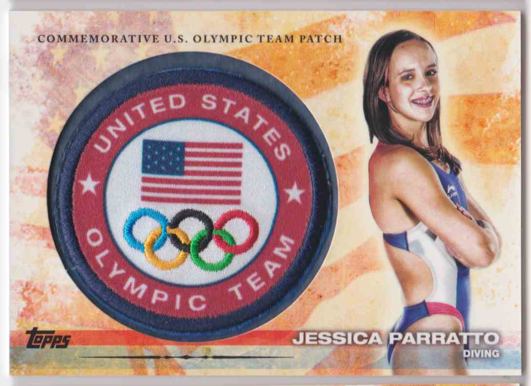2012 Topps U.S. Olympic Team Patch Jessica Parratto #ULP-JP card front image