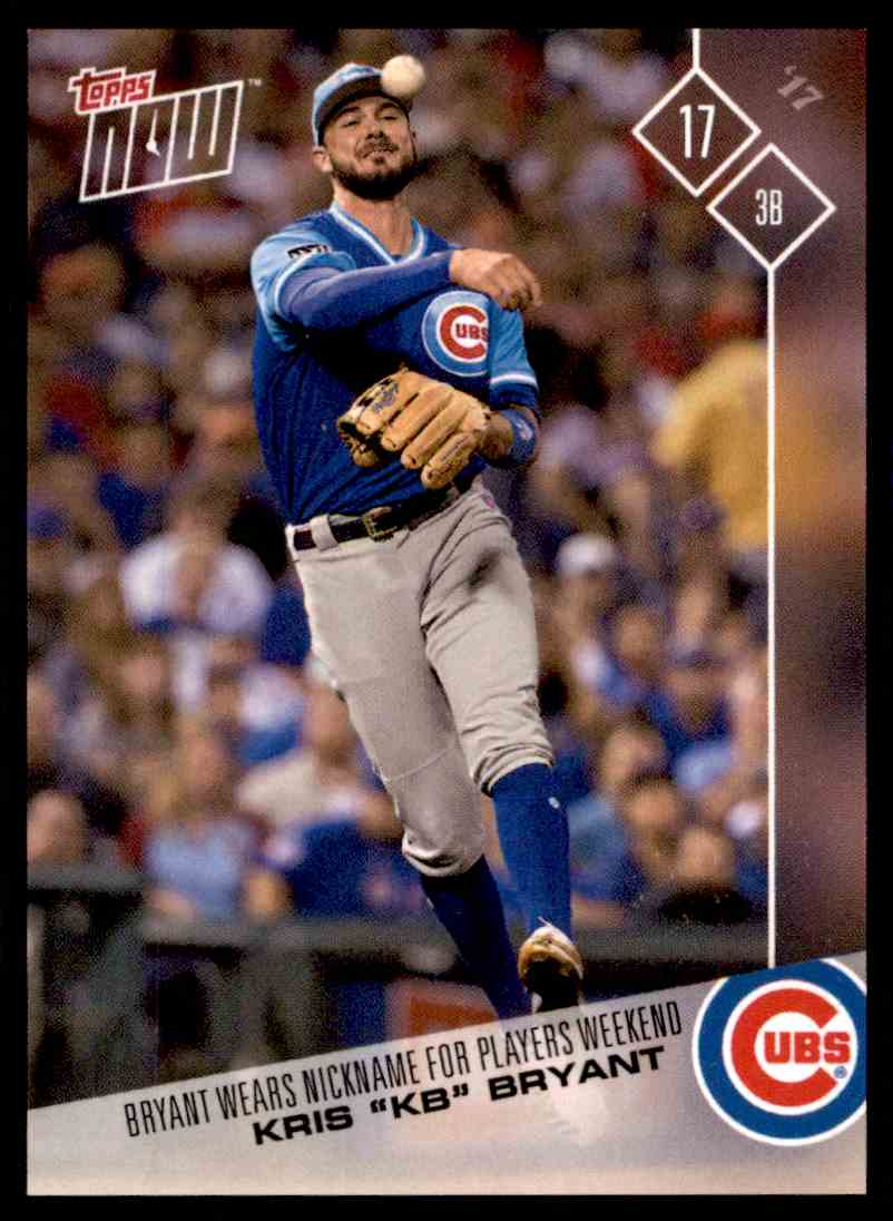 best service 940f5 11632 2017 Topps Now Players Weekend Kb - Kris Bryant #21 on ...