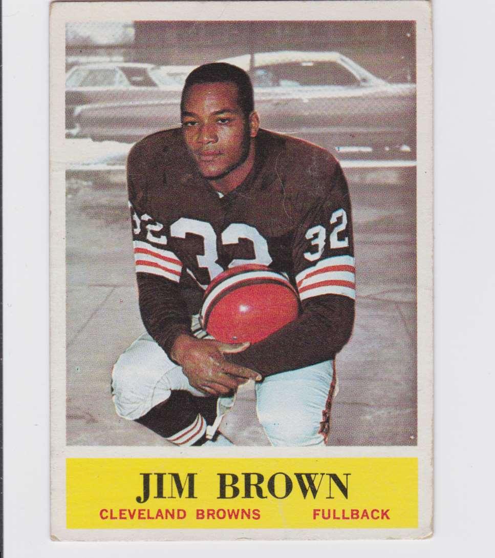 1964 Pcg Jim Brown #30 card front image