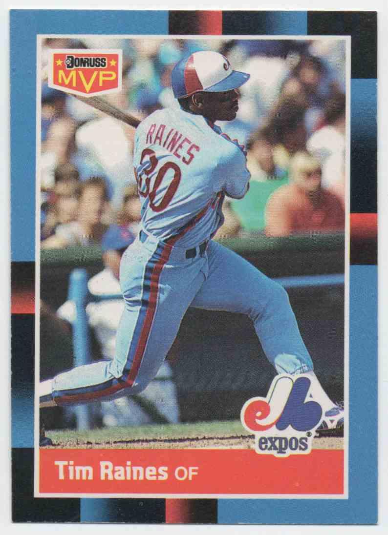 1988 Donruss Bonus MVP's Tim Raines #BC-18 card front image