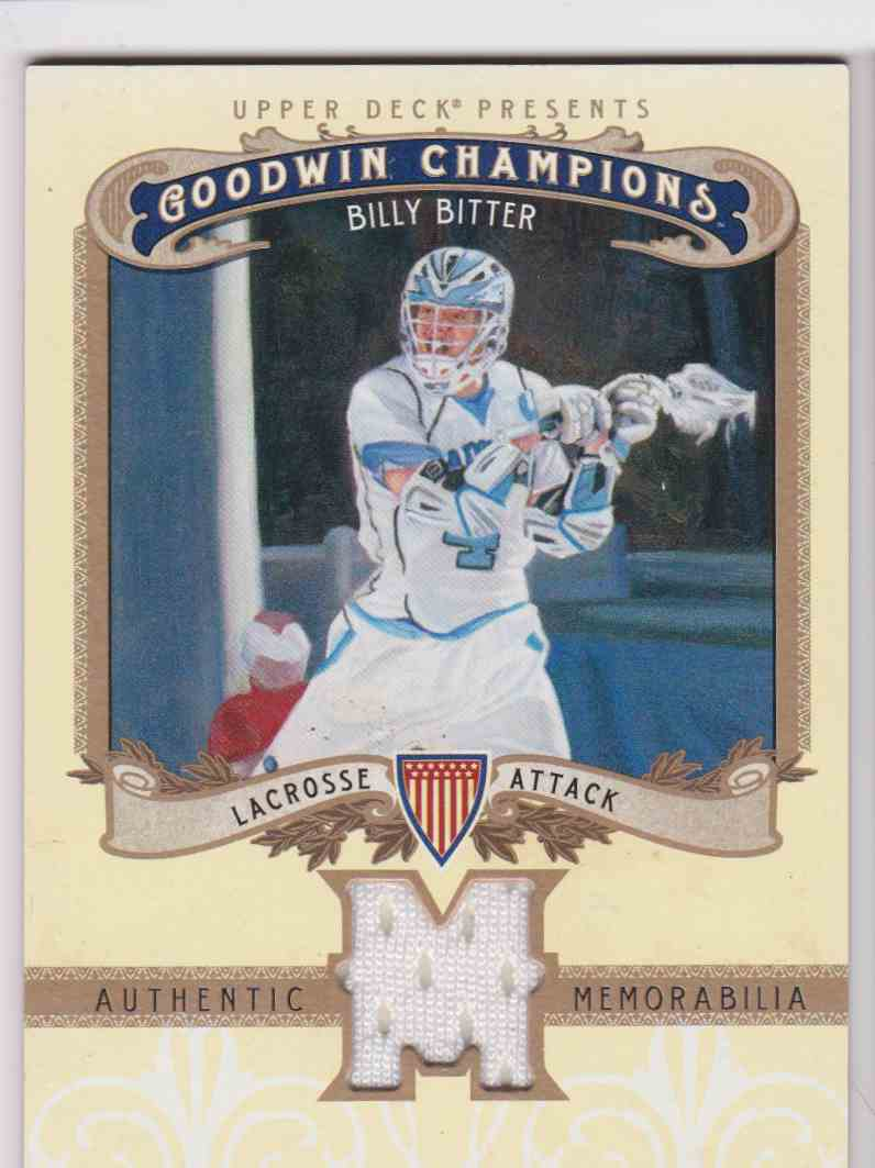 2012 UD Goodwin Champions Billy Bitter #M-BI card front image