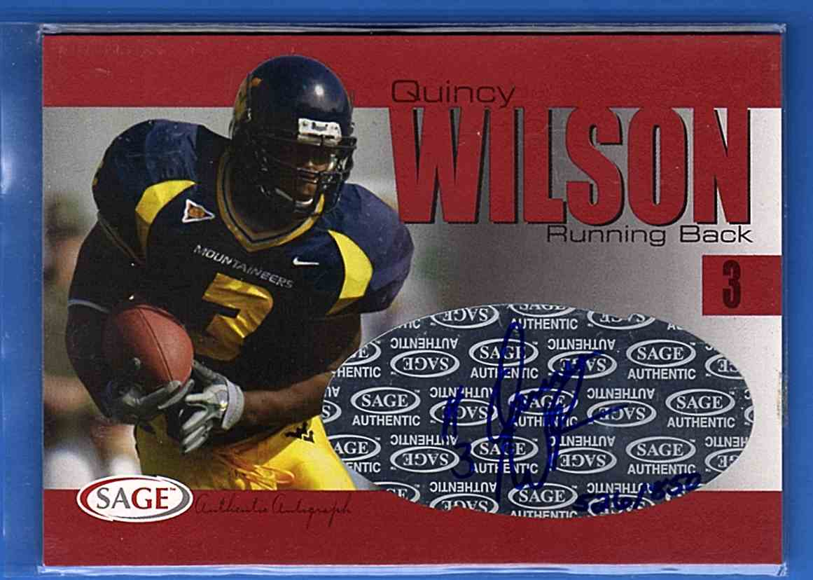 2004 Sage Autographs Red Quincy Wilson #A45 card front image