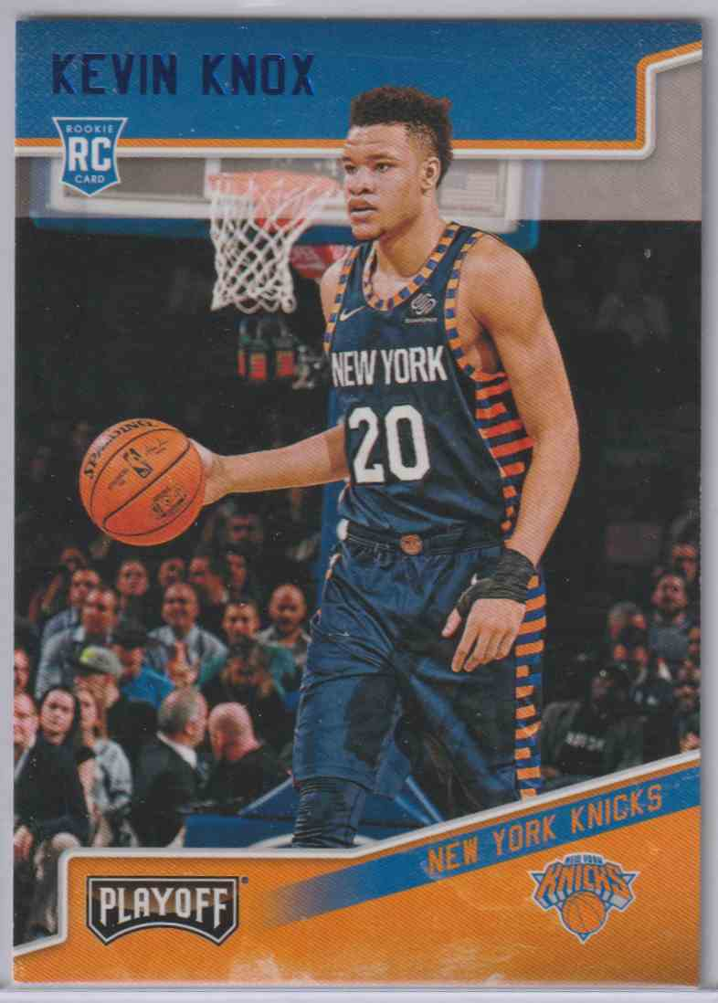 2018-19 Panini Chronicles Playoff Rookies Blue Kevin Knox #197 card front image