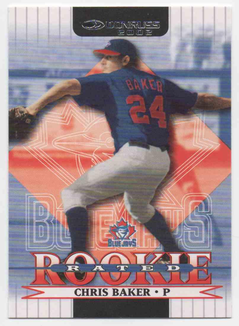 2002 Donruss Chris Baker #160 card front image