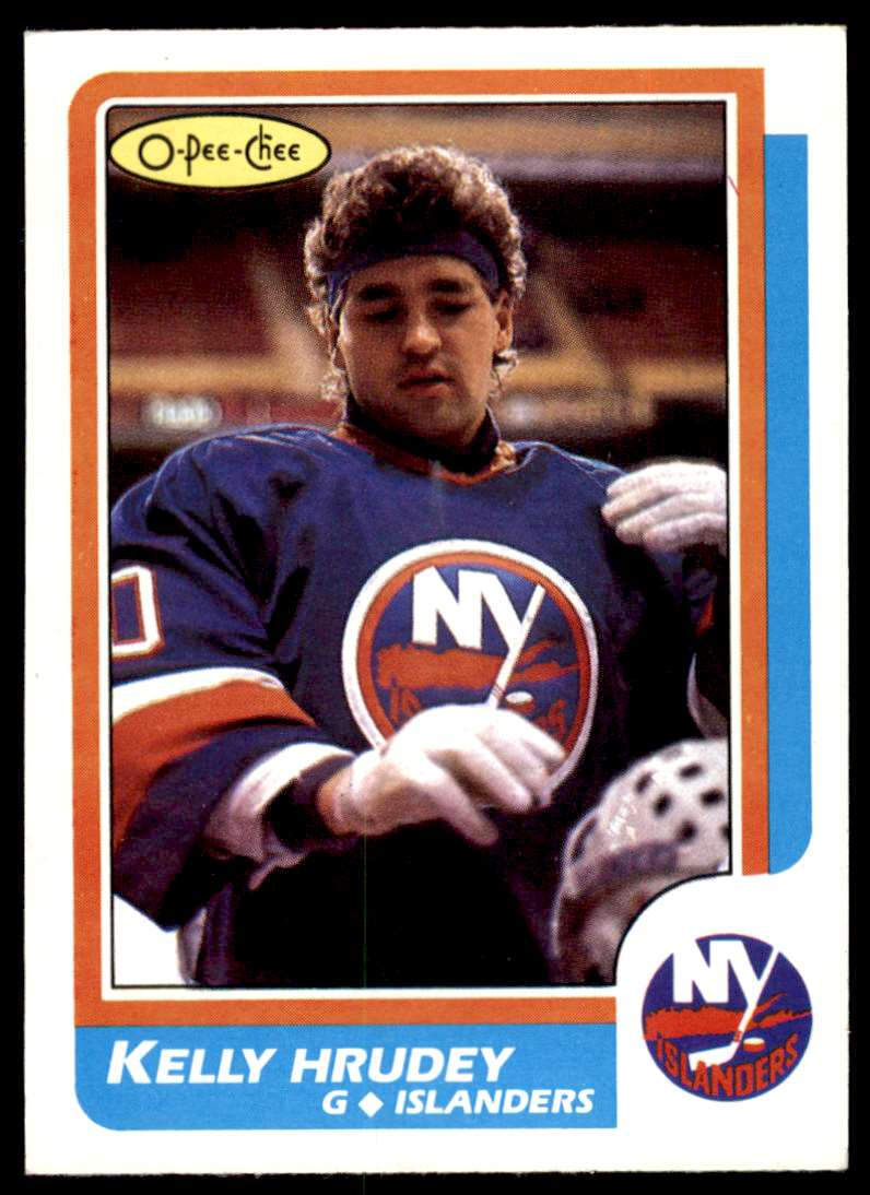 1986-87 OPC Kelly Hrudey #27 card front image