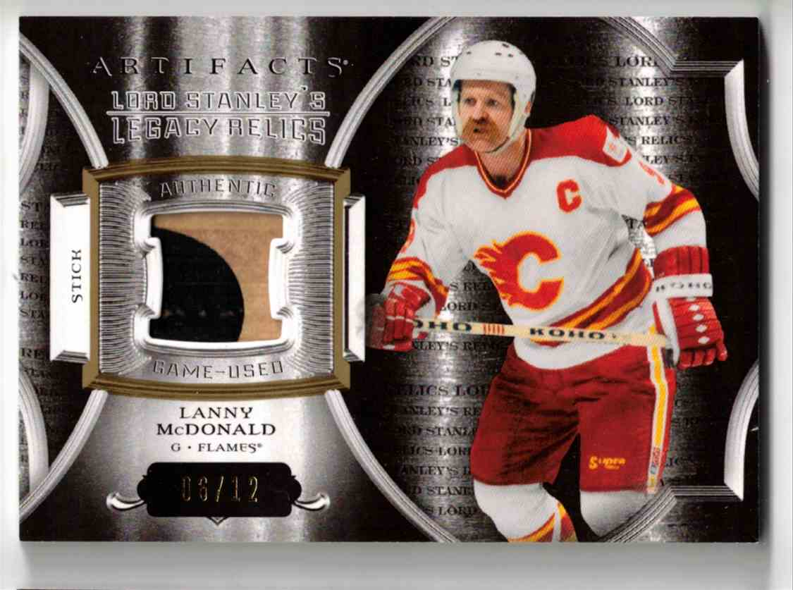 2015-16 Upper Deck Artifacts Lord Stanley's Legacy Relics Gold Lanny McDonald #LSLR-LM card front image