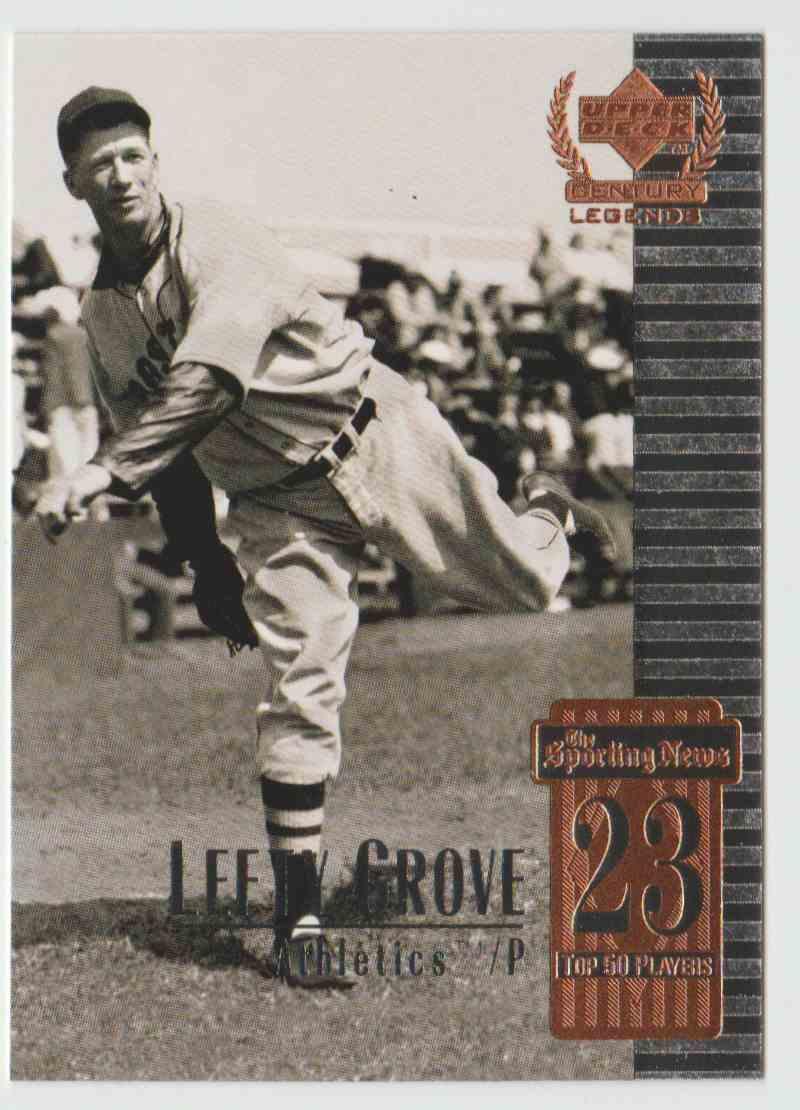 1999 Upper Deck Century Legends Lefty Grove 23 On Kronozio