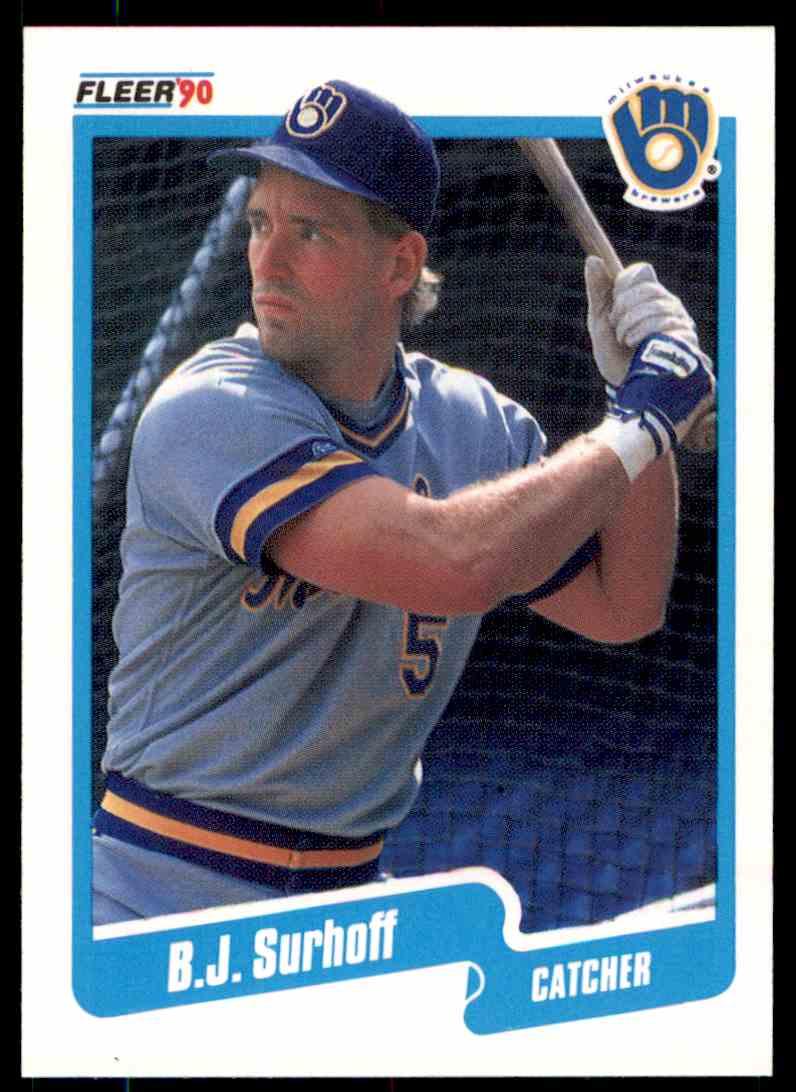 1990 Fleer Baseball Bj Surhoff 338 On Kronozio