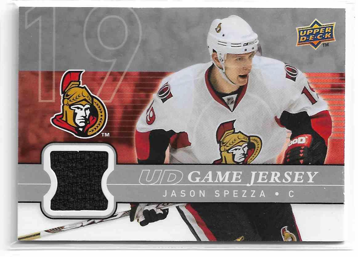 2008-09 Upper Deck UD Game Jersey Jason Spezza #GJ-JS card front image
