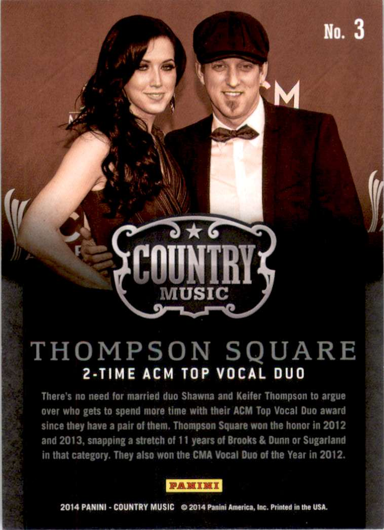 2015 Country Music Purple Thompson Square #3 card back image