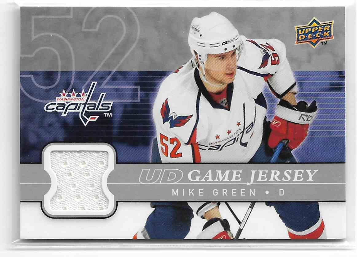 2008-09 Upper Deck UD Game Jersey Mike Green #GJ-MG card front image