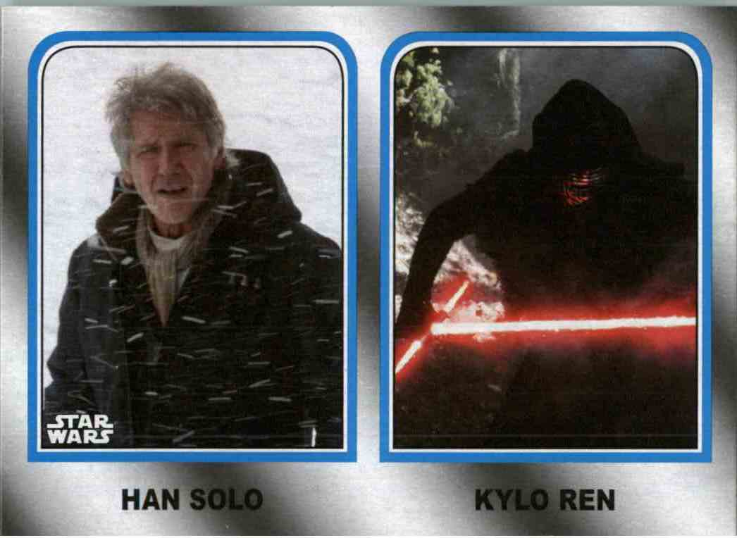 2017 Star Wars The Last Jedi Family Legacy Solo Kylo Ren #3 card front image