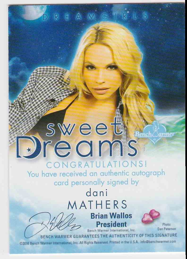 2017 Benchwarmer Dreamgirls Sweet Dreams Dani Mathers card back image