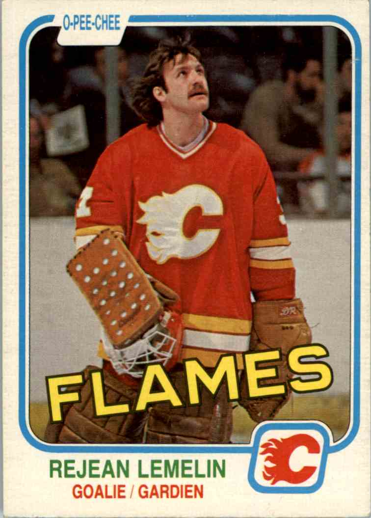 1981-82 O-Pee-Chee Rejean Lemelin #44 card front image