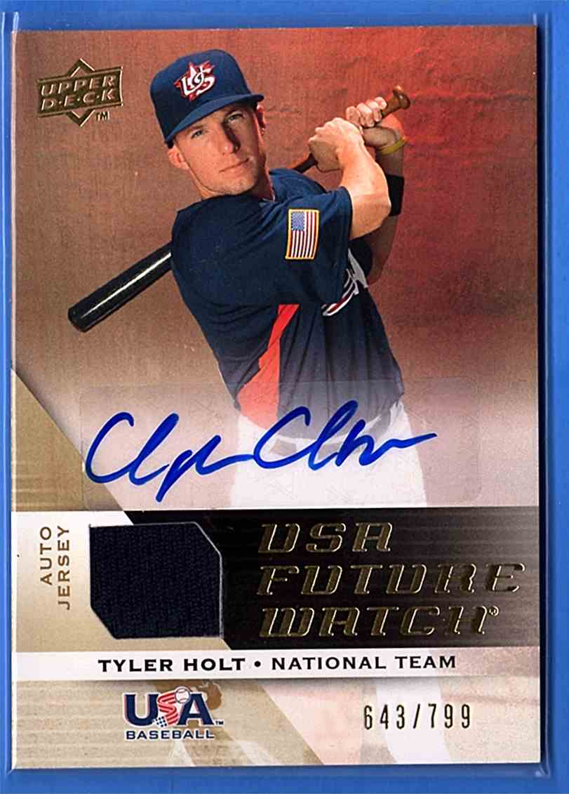 2009 Upper Deck Signature Stars USA National Team Future Watch Jersey Autographs Tyler Holt #UFWA10 card front image