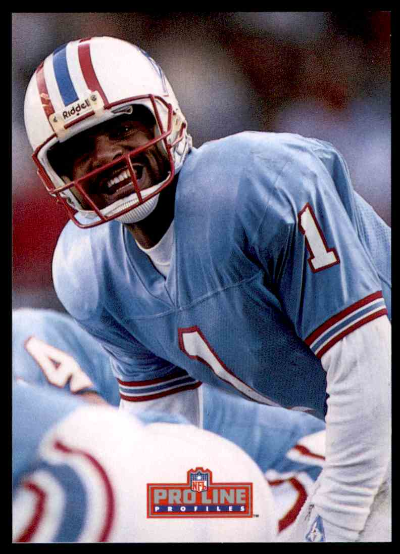 c3704071c 1992 NFL Proline Pro Set Warren Moon #448 card front image